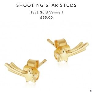 Missoma Gold Shooting Star Studs Earrings